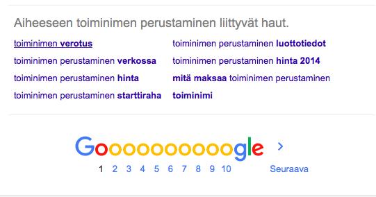 Googlen ehdotukset