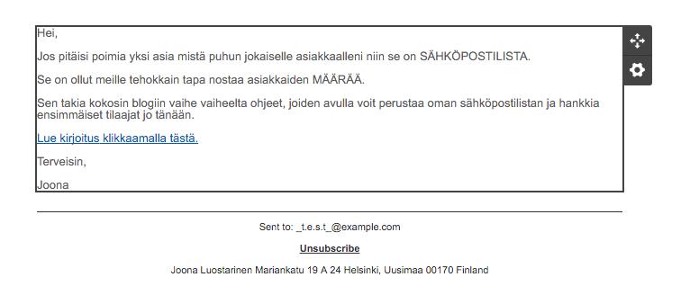 valmis sähköpostiviesti
