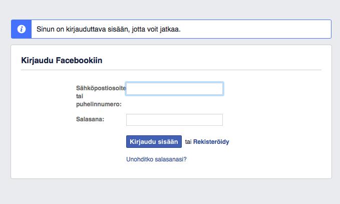 facebook-kirjautuminen
